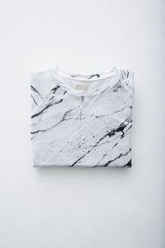 Soulland Faux Playtype - White marble sweatshirt
