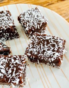 Chocolate-Butterscotch Butter Mochi Sprinkled with Coconut – Coconut & Lime