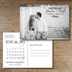 Printable Save the Date Postcard  Chic Charm by OhDarlingPaper, $20.00