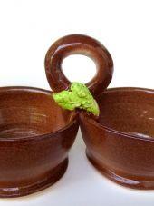 Store | Karen O'Lone-Hahn Double condiment server  #kitchen #serving #condiments #handmade #pottery