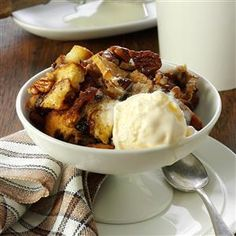Apple-Nut Bread Pudding Recipe