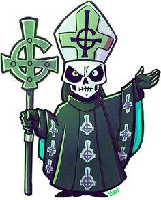 Imagen relacionada Ghost Metal Band, Doom Metal Bands, Ghost Papa Emeritus, Chibi, Music Rock, Heavy Metal Art, Ghost Bc, Music Drawings, Ghost Pictures