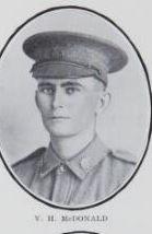 McDONALD,   Victor   Hamilton.   No.   5389,   31   st   Battalion.   Born   and   educated   at   Maryborough.