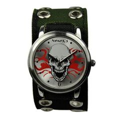 Army Flaming Skull Watch AEB922S