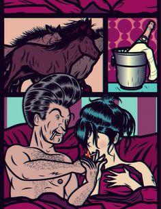 Client: Fucsia magazine (unpublished)  Illustration: Diego Patiño