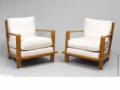 Jean Royère Pair of Croisillon armchairs, 1952