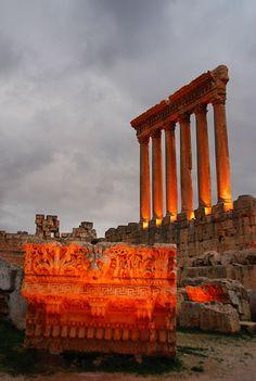 Temple of Jupiter, Baalbek, Lebanon photographed by Mehmet Kemal Mert