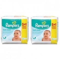 Giga Pack 768 Lingettes Bébés de la marque Pampers Fresh Clean sur Les Looloos