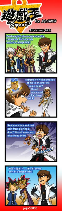 *facepalm*  Yu-Gi-Oh!  YGO Spoof: cheap Trick by jojo56830.deviantart.com on @deviantART