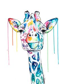 New Giraffe low res.jpg The Effective Pictures We Offer You About Sealife Painting acrylic A quality Colorful Animal Paintings, Abstract Animals, Colorful Animals, Watercolor Animals, Watercolor Art, Giraffe Drawing, Giraffe Painting, Map Painting, Giraffe Art