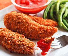 Pollo empanado con kikos o crispy chicken tenders ¡súper crujiente! - Recetín