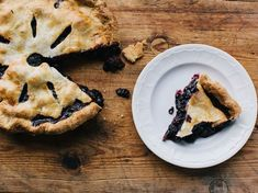 Chef Chris Fischer uses tapioca in the filling of the blackberry and blueberry pie to thicken the juicy berry mixture.