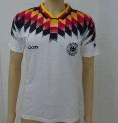 d0ae54201 Germany 1994 home Men Soccer Retro Jersey Personalized Name and Number