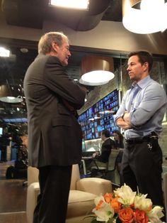 Charlie Rose talks to Mark Wahlberg in the greenroom Studio 57, Charlie Rose, Mark Wahlberg, Facebook, Beauty, Cosmetology
