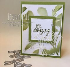 Dragonfly cluster thank you card with video :: Jenny Hall