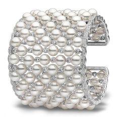 Pearl & Diamond Bracelet by Yoko!