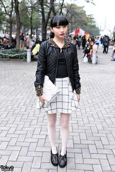 » Asami's Embellished Leather Jacket, Betsey Johnson, KTZ & Vivienne Westwood