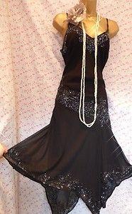 beaded black gatsby dress