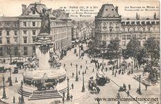 Place de la République in Paris from a postcard postmarked November 27th, 1918.