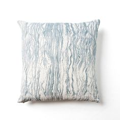Striped Circle with Waves Pillow by Rebecca Atwood