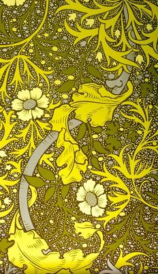 chartreuse floral print wallpaper