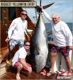 Incredible! The largest Yellowfin Tuna ever caught on a rod and reel!