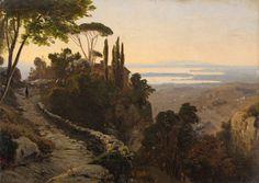 Oswald Achenbach (German, 1827-1905) Italian Landscape