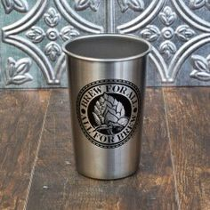 Brew for All Stainless Steel Pint Glass.  Perfect for camping.