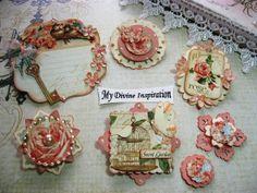 Secret Garden Scrapbook Embellishments by mydivineinspiration, $5.25