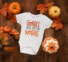 Thanksgiving Onesie Gobble Till You Wobble Thanksgiving Boy Onesie, Onesies, Gobble Til You Wobble, First Thanksgiving, Baby Boutique, Holiday Outfits, Toddler Girl, Kids, Young Children