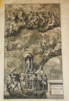 Antiporta del I volume delle opere di Lilio Gregorio Giraldi Leida 1696