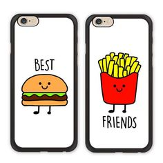 Best Friend Bff Burger Fries Case For Iphone 7 6 6S 5C Galaxy S8 S7 S6 Edge Plus