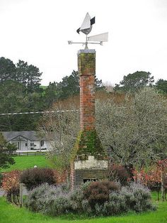 Old chimney and weather vane...love it