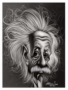 caricaturas: einstein. Final.