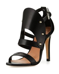 Gareth+Cutout+Studded+Leather+Sandal,+Black+by+L.A.M.B.+at+Neiman+Marcus+Last+Call.