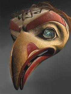 Tlingit Polychromed Wood Headdress