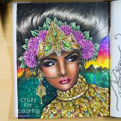 """Hanna Karlzon - Magical Dawn  Gefällt 125 Mal, 5 Kommentare - Crazy For Coloring/Desi Becker (@crazy.for.coloring) auf Instagram: """"Okay, this is my third and final entry for my own #peopleofcoloralong. For some reason I was…"""""""