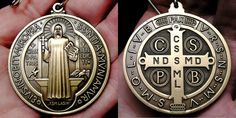 Saint Benedict medal | The front side of the St. Benedict Medal and the reverse side.