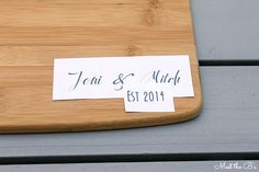 Personalized wood-burned cutting board. The perfect gift idea!