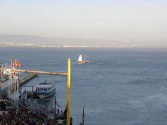 boats next to the Giant's Stadium, San Francisco, California