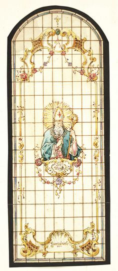 St Ulrich Stained Glass Window Design