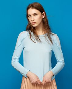MINI TOP WITH SHOULDER FRILL