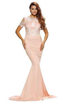 Robe Formelle Cils Dentelle Agrementee Champagne Sain. Beautiful Party  DressesElegant Dresses For WomenFormal Evening DressesFormal GownsBodycon  ... 24a9723ba550