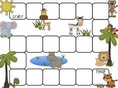 First Grade Fanatics: It's a Zoo Day! Safari Jungle, Safari Party, Jungle Theme, Zoo Preschool, Board Game Template, Dear Zoo, Literacy Games, Kids Around The World, World Crafts