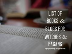 List of books and blogs for witches and pagans