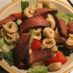 Tortellini, Steak, and Caesar