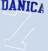 Danica Patrick Indy Car Series t-shirt. Light blue with Danica's Indy Car number seven logo. #Indy500