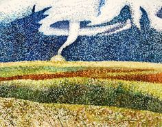 Pointillism landscape in watercolor. School Painting, Pointillism, Painting Lessons, Art Education, Landscape Paintings, Style Ideas, Art Projects, High School, Watercolor