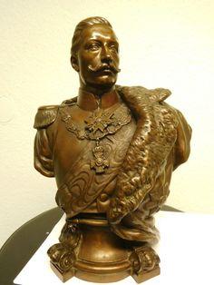 Büste Bronze Kaiser Wilhelm 2 Gladenbeck Breuer Bildhauer German Imperial