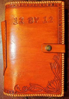Alcoholics Anonymous Leather 12 & 12 Book by BomberoLeatherworks, $75.00